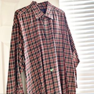 Nautica Button Down Plaid Shirt XXL